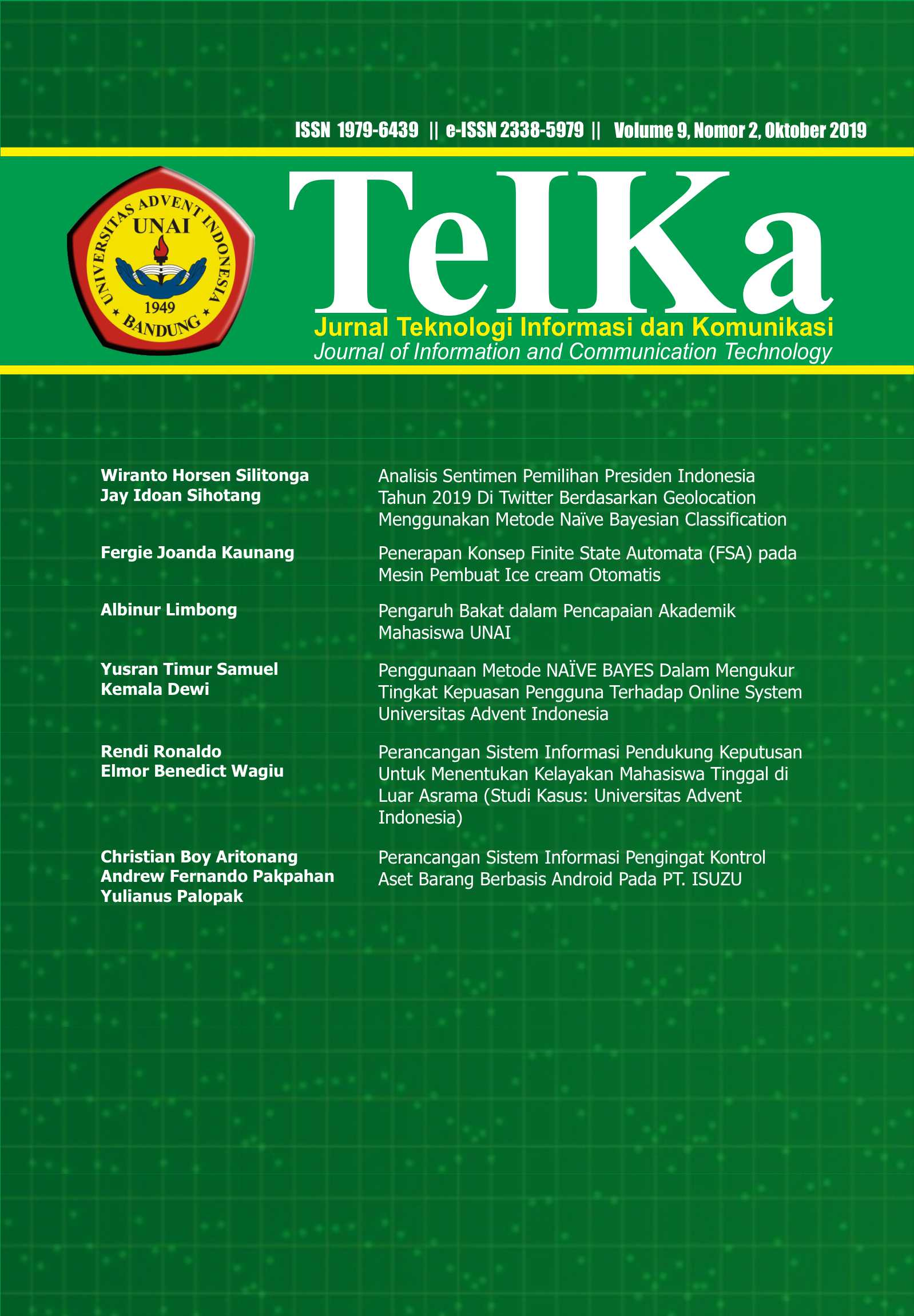 View Vol. 9 No. 2 (2019): TeIKa: October 2019