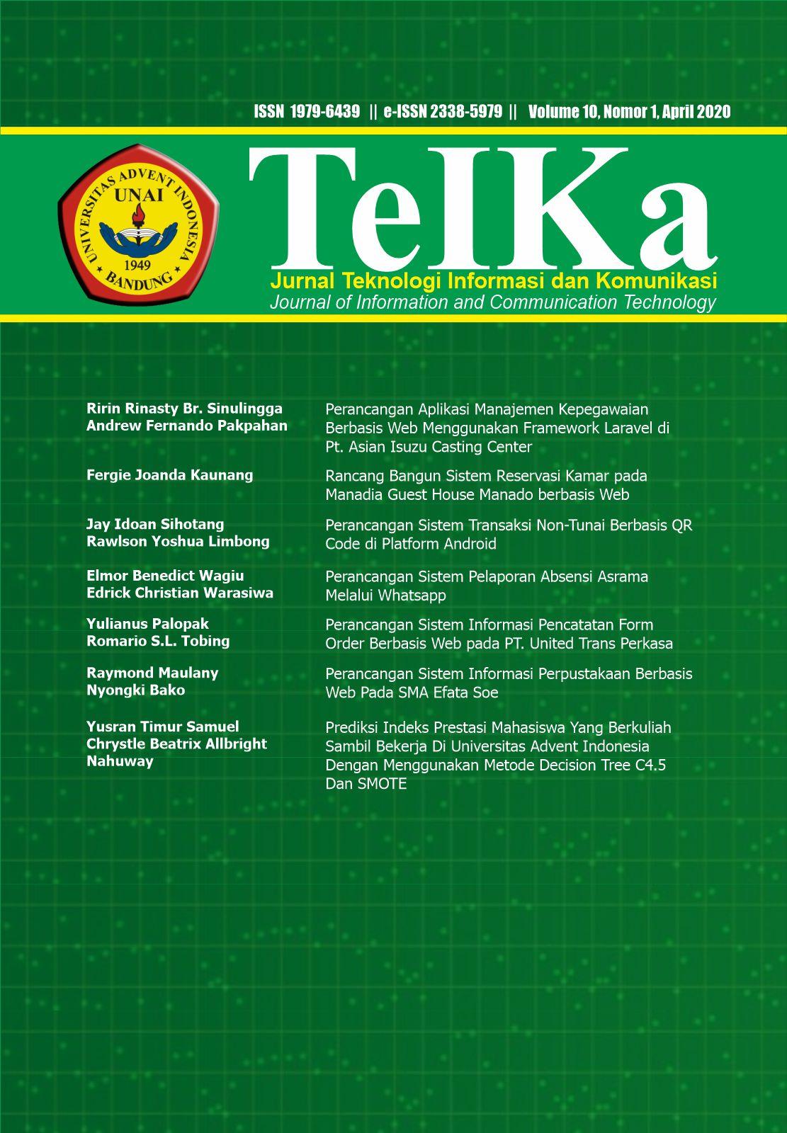 View Vol. 10 No. 01 (2020): TeIKa: April 2020