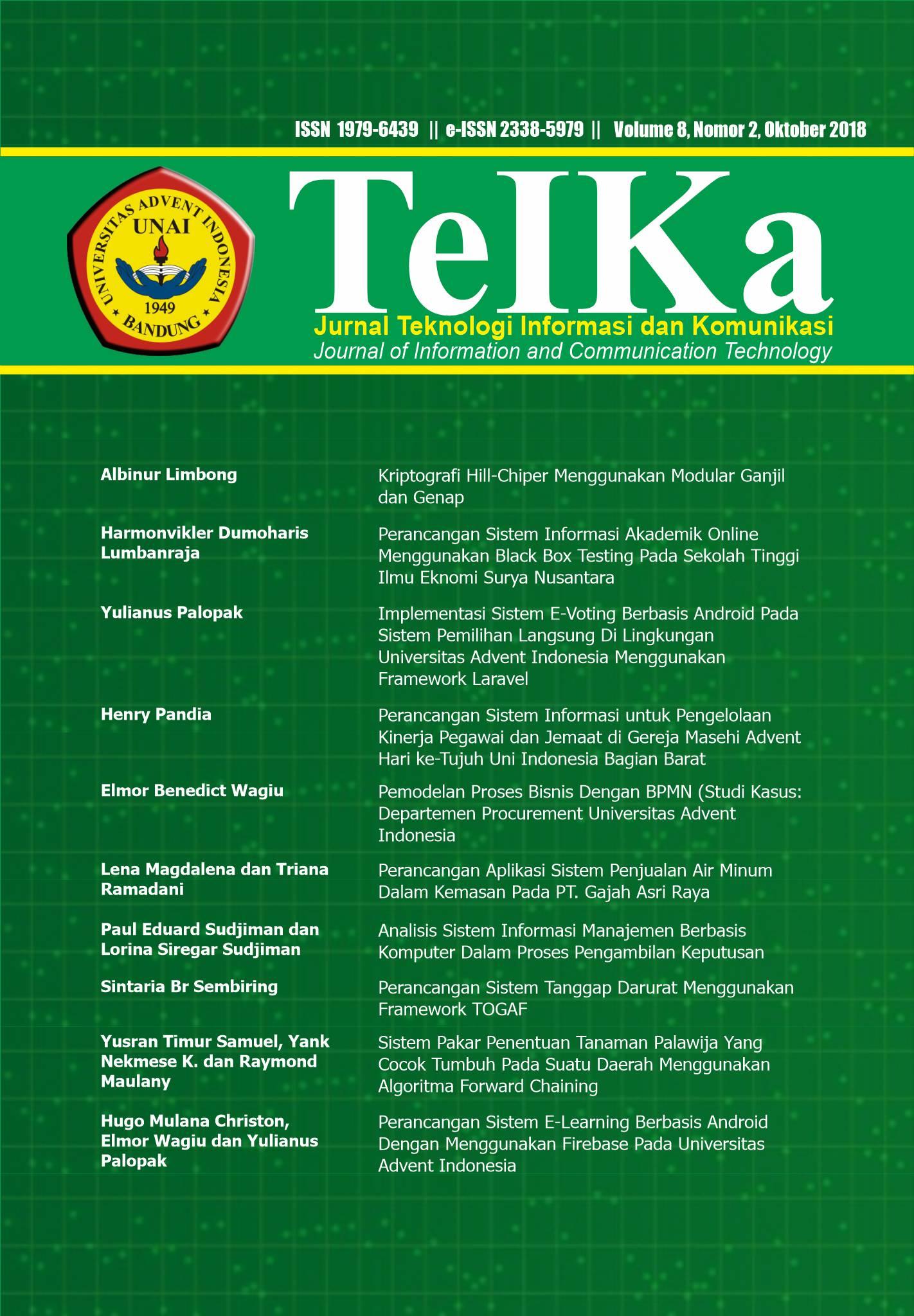 View Vol. 8 No. 2 (2018): TeIKa : Oktober 2018