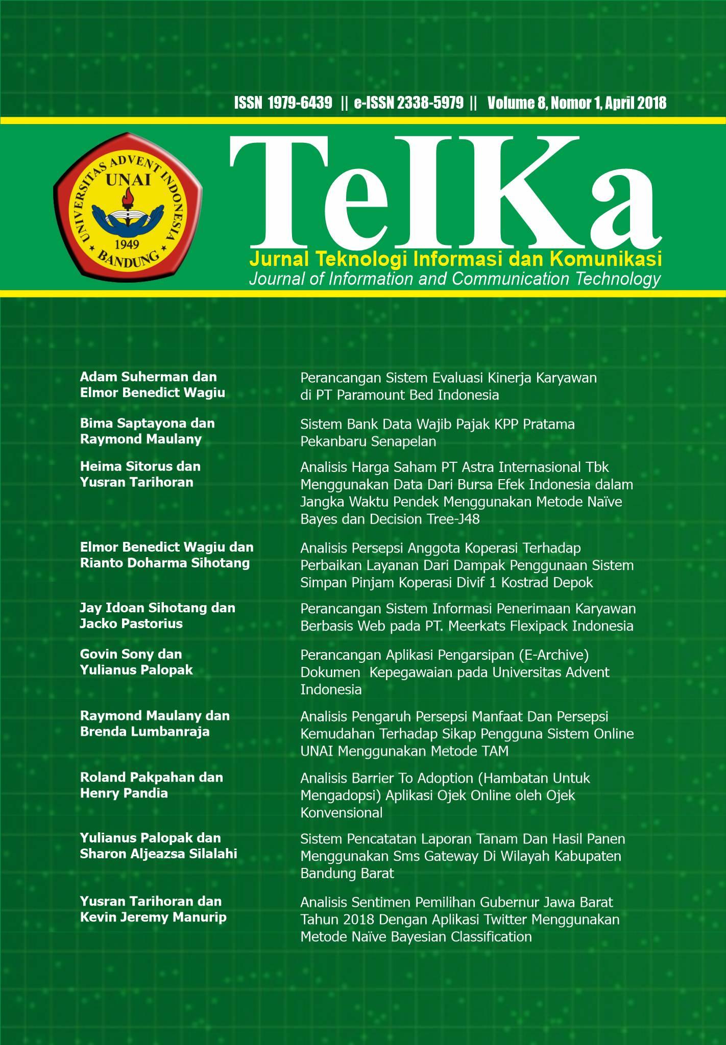 View Vol. 8 No. 1 (2018): TeIKa : April 2018