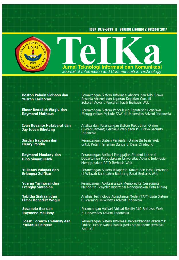 View Vol. 7 No. 2 (2017): Teika : Oktober 2017