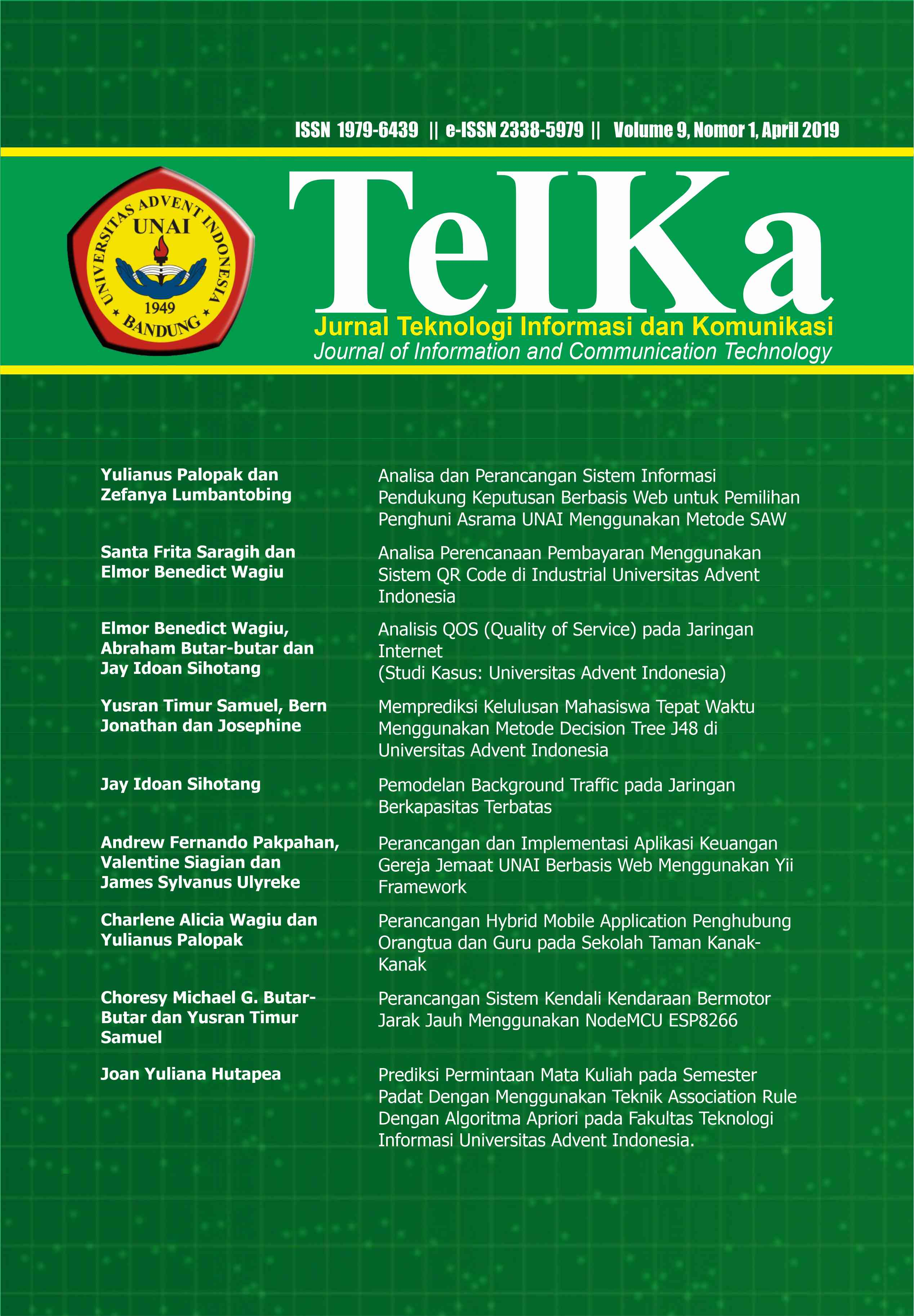 View Vol. 9 No. 1 (2019): TeIKa: April 2019