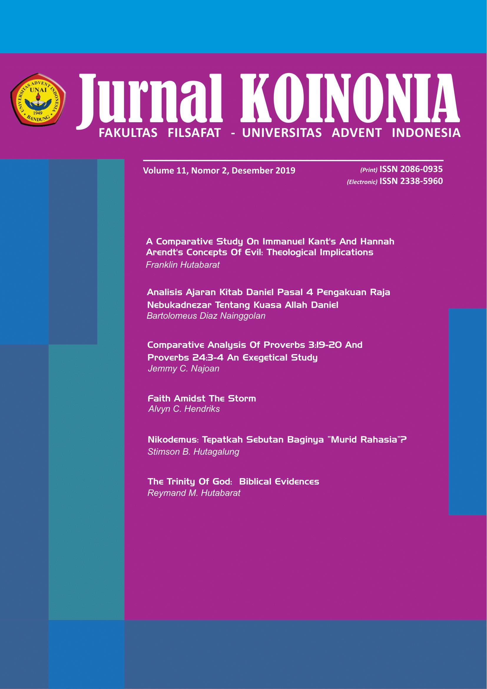 View Vol. 11 No. 2 (2019): KOINONIA: Desember 2019