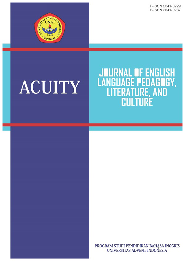 View Vol. 3 No. 2 (2018): Acuity: Journal of English Language Pedagogy, Literature and Culture