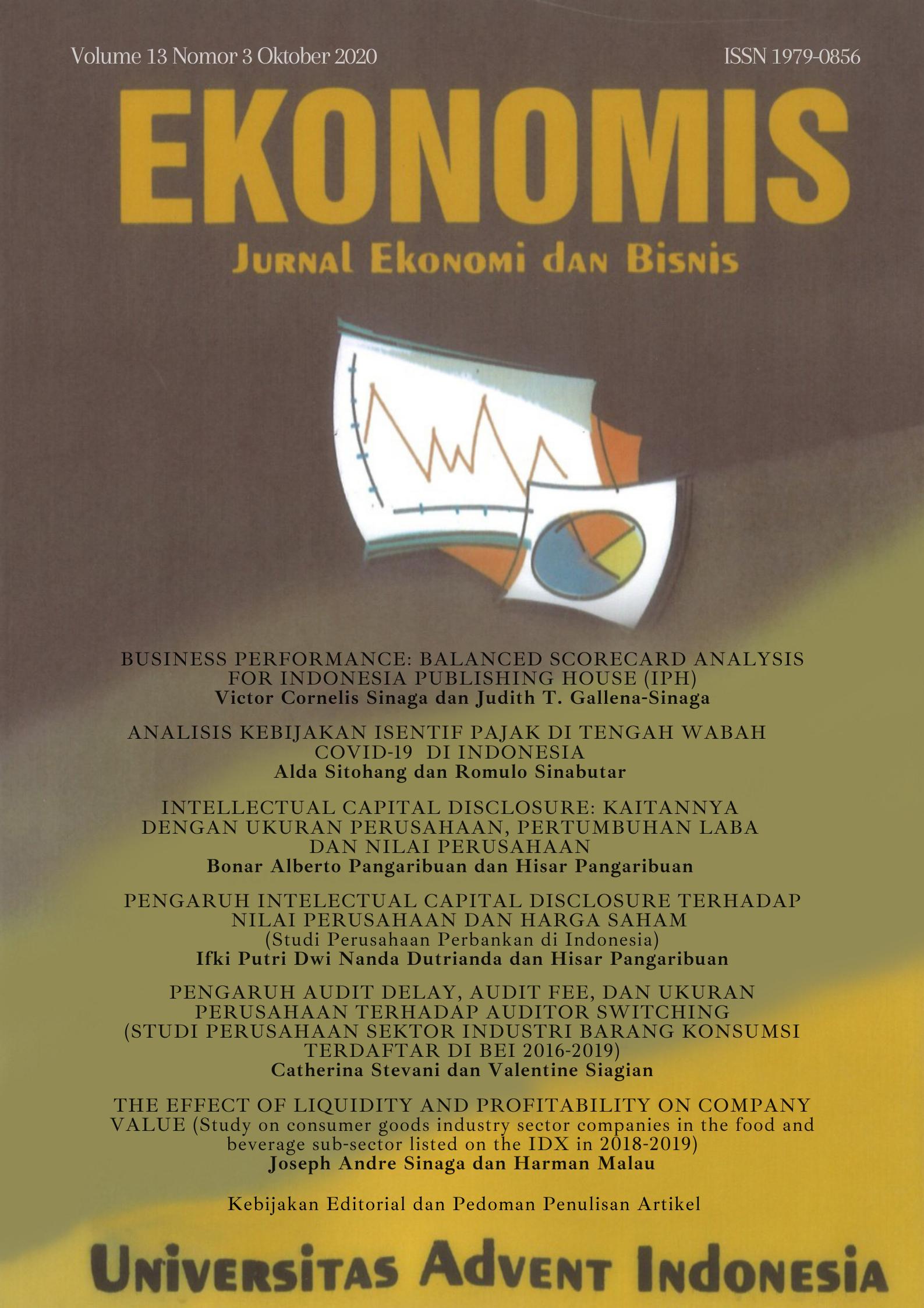 View Vol. 13 No. 3 (2020): EKONOMIS : Oktober 2020