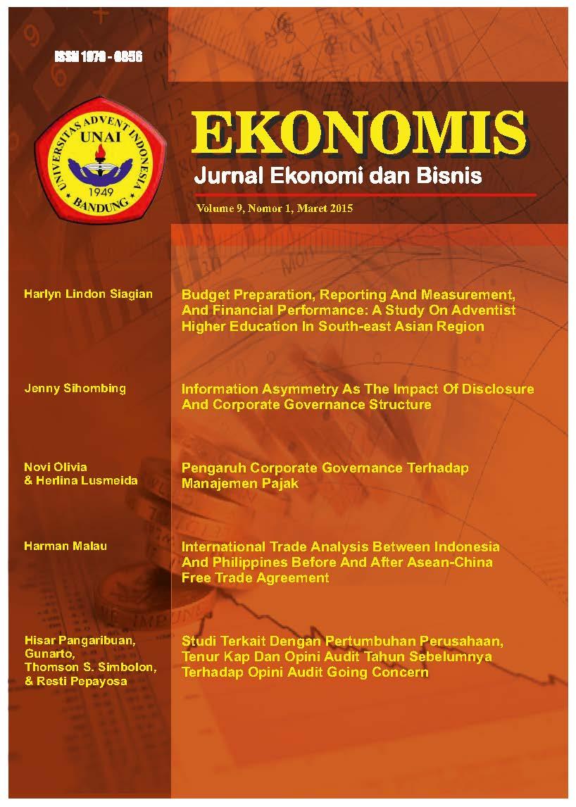 View Vol. 9 No. 1 (2015): EKONOMIS : Maret 2015