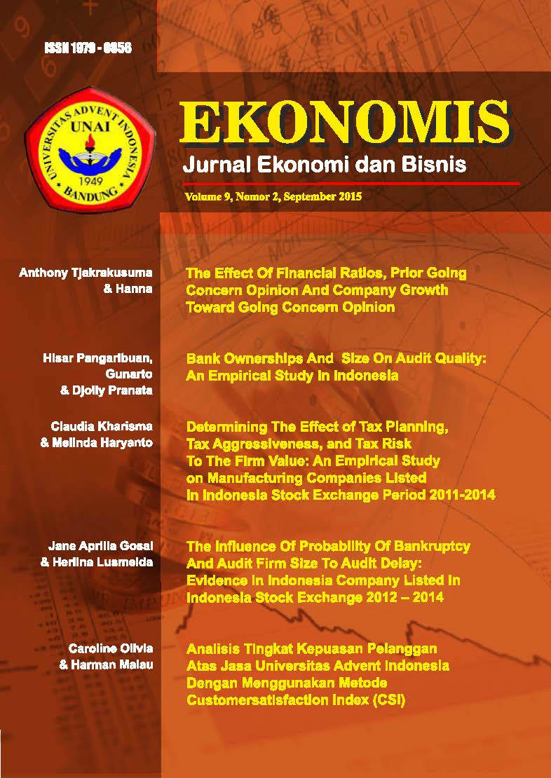 View Vol. 9 No. 2 (2015): EKONOMIS : September 2015