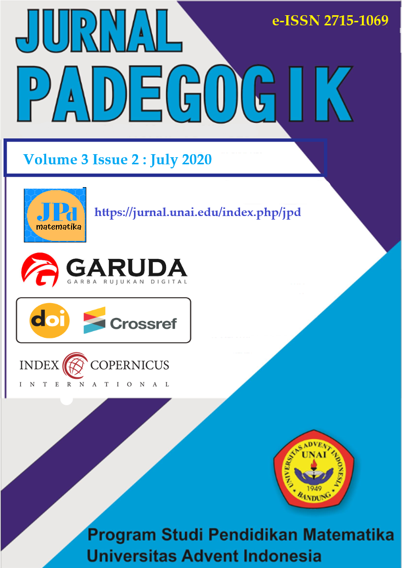 Cover Jurnal Padegogik 3(2) July 2020