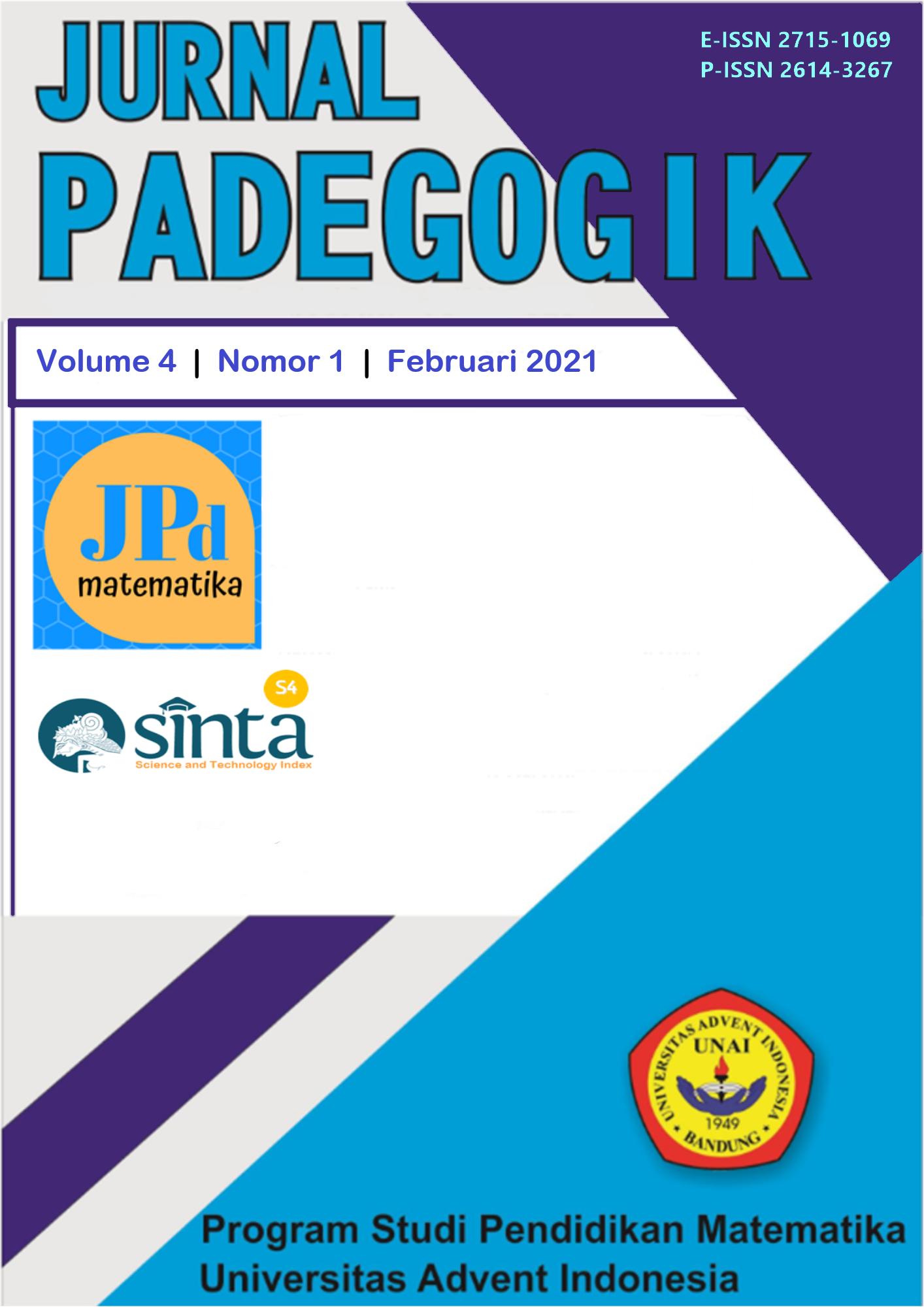 View Vol. 4 No. 1 (2021): Jurnal Padegogik: February 2021
