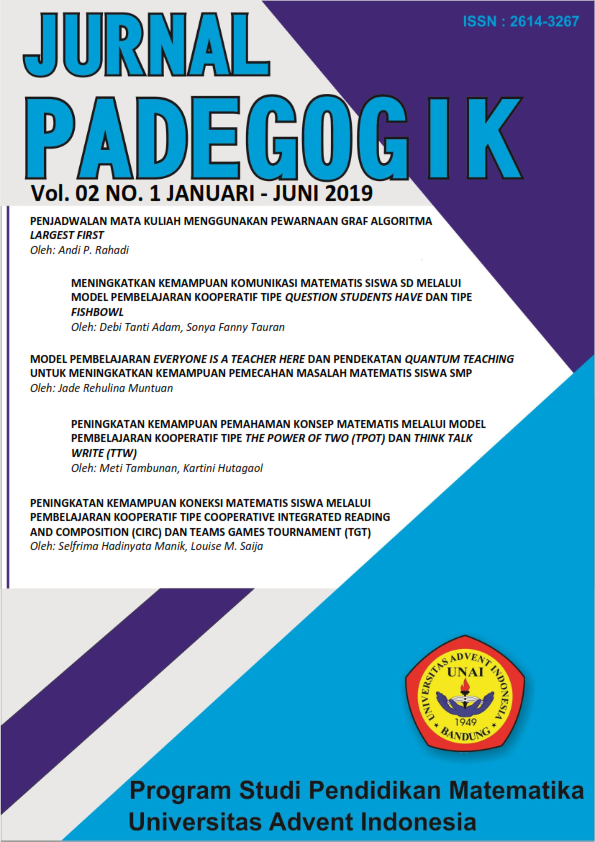 Jurnal Padegogik Volume 2 No 1