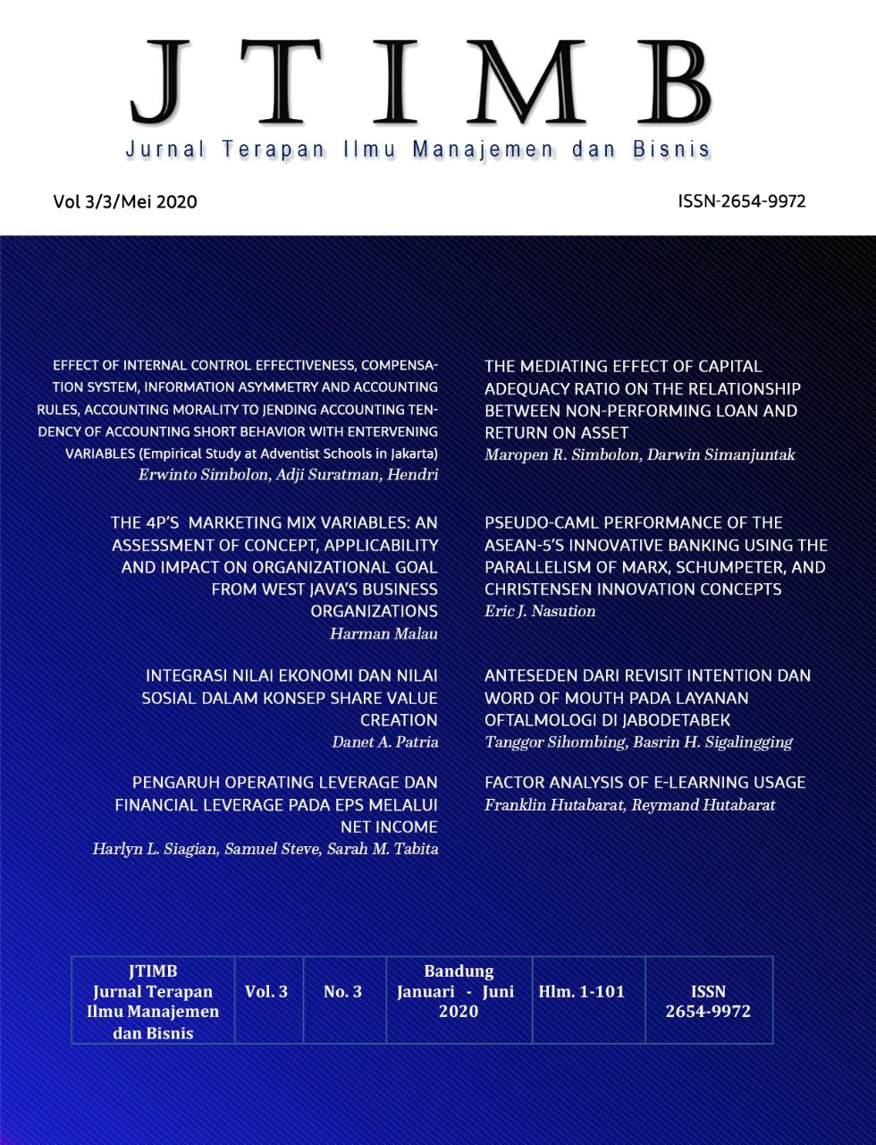 View Vol. 3 No. 1 (2020): JTIMB|Mei 2020