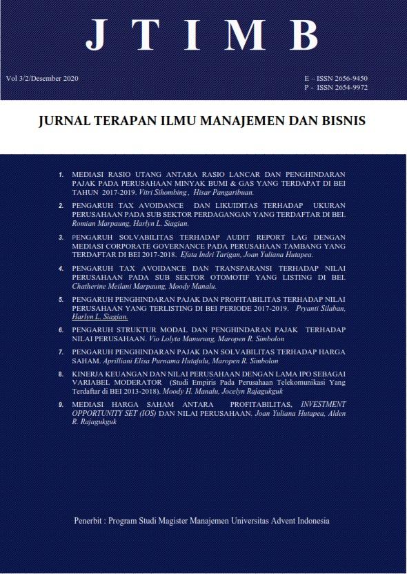 View Vol. 3 No. 2 (2020): JTIMB|Nov 2020