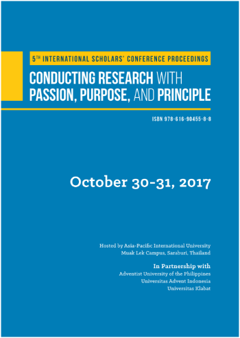View Vol. 5 No. 1 (2017): Abstract Proceedings International Scholars Conference